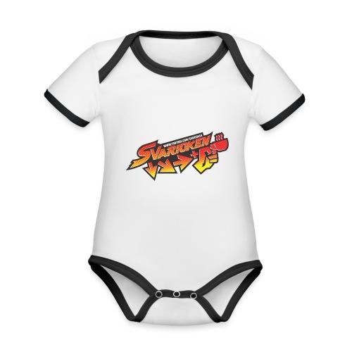 Maglietta Svarioken - Body da neonato a manica corta, ecologico e in contrasto cromatico