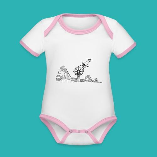 Carta_timone-png - Body da neonato a manica corta, ecologico e in contrasto cromatico