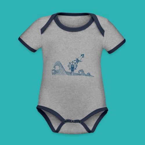 Carta_timone_blu-png - Body da neonato a manica corta, ecologico e in contrasto cromatico