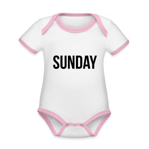 Sunday - Organic Baby Contrasting Bodysuit