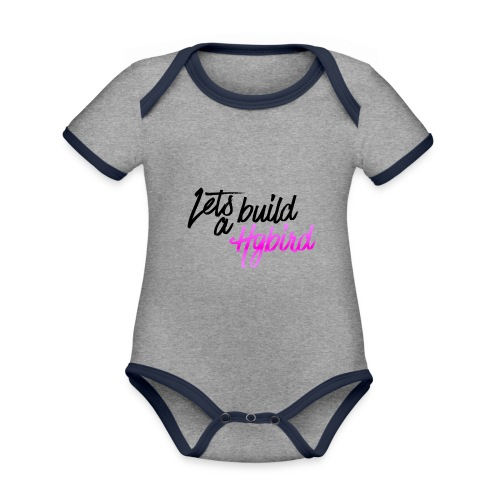 Lets Build A hybrid - Organic Baby Contrasting Bodysuit