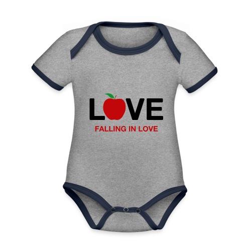 Falling in Love - Black - Organic Baby Contrasting Bodysuit