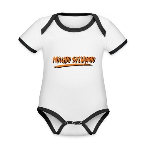 Mucchio Selvaggio 2016 Dirty Orange - Body da neonato a manica corta, ecologico e in contrasto cromatico