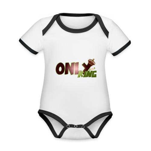 OnlyKing Ecolo design - Body Bébé bio contrasté manches courtes
