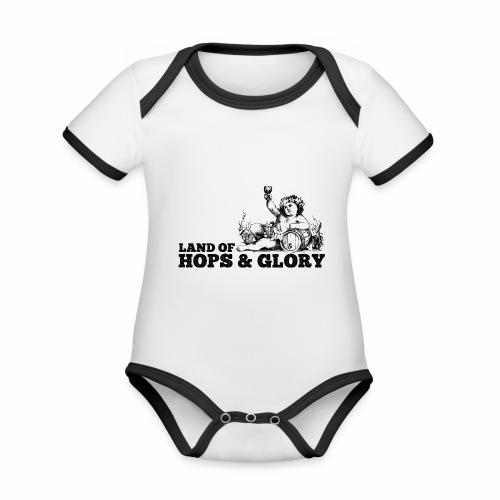 Land of Hops & Glory - Organic Baby Contrasting Bodysuit