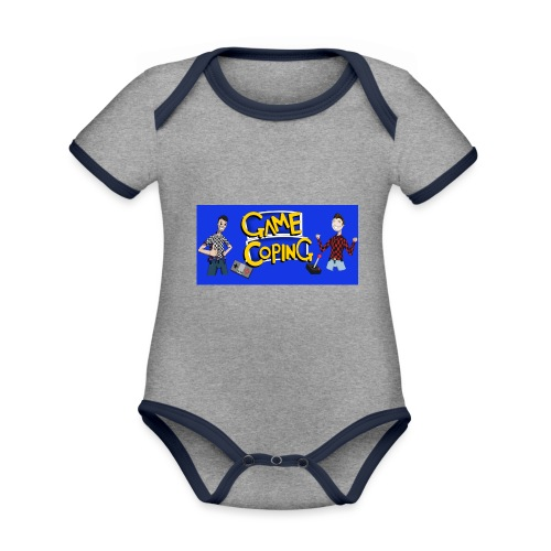 Game Coping Happy Banner - Organic Baby Contrasting Bodysuit
