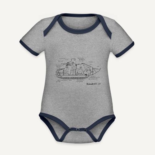 ft17 - Ekologiczne body niemowlęce z krótkim rękawem i kontrastowymi lamówkami