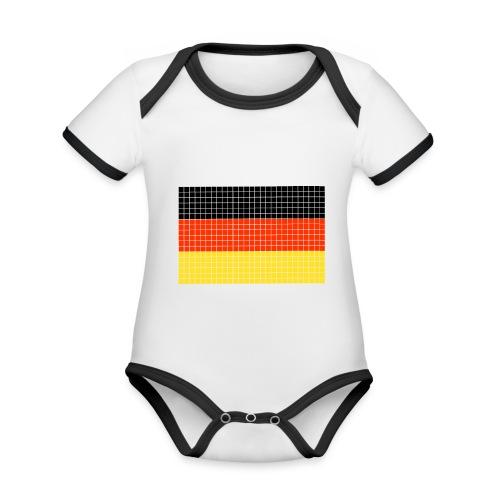 german flag.png - Body da neonato a manica corta, ecologico e in contrasto cromatico