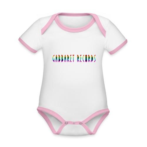 gabbaretr png - Baby contrasterend bio-rompertje met korte mouwen