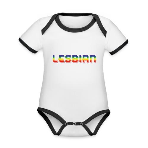 LESBIAN   Regenbogen   LGBT - Baby Bio-Kurzarm-Kontrastbody