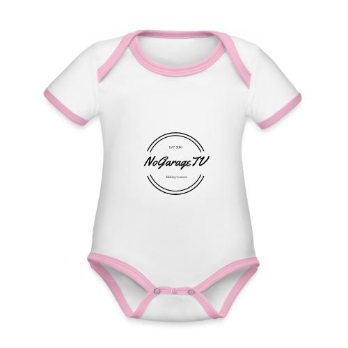 NoGarageTV (3) - Kortærmet økologisk babybody i kontrastfarver