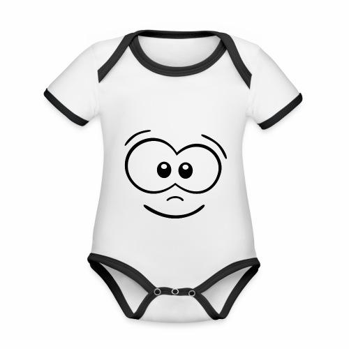 Gesicht fröhlich - Baby Bio-Kurzarm-Kontrastbody