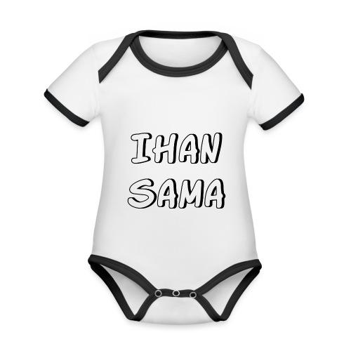 Ihan sama - Vauvan kontrastivärinen, lyhythihainen luomu-body
