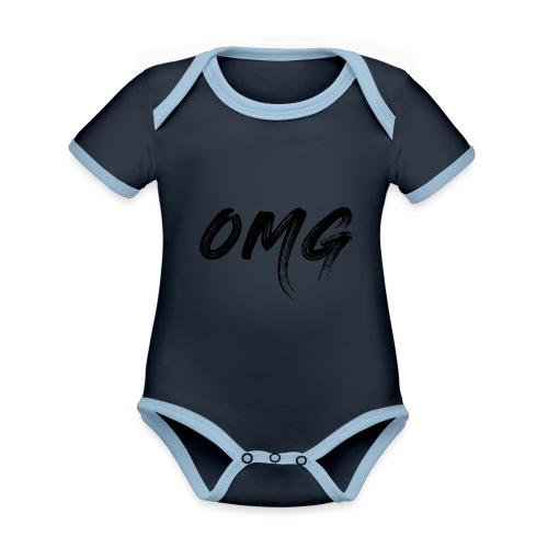 OMG, musta - Vauvan kontrastivärinen, lyhythihainen luomu-body