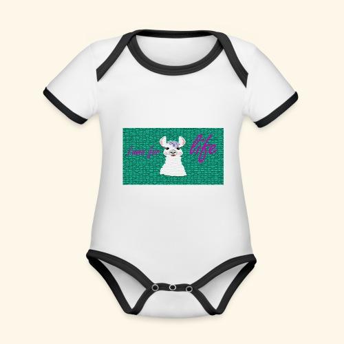 lama / alpaca - Baby Bio-Kurzarm-Kontrastbody