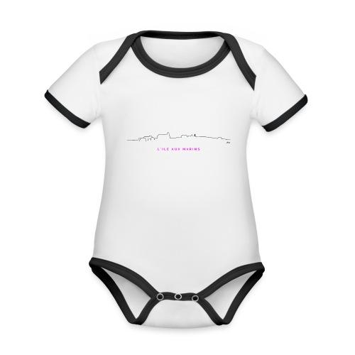 aLIX aNNIV - Body Bébé bio contrasté manches courtes