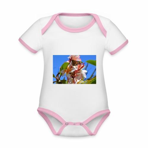 Schmetterling - Baby Bio-Kurzarm-Kontrastbody