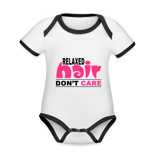 Relaxed Hair Don't Care - Organic Baby Contrasting Bodysuit