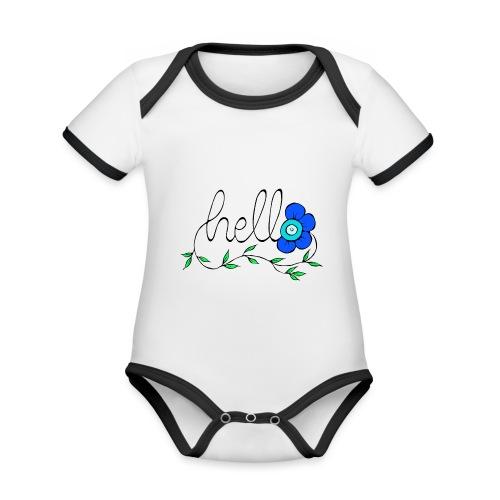 Hello Blume. - Baby Bio-Kurzarm-Kontrastbody