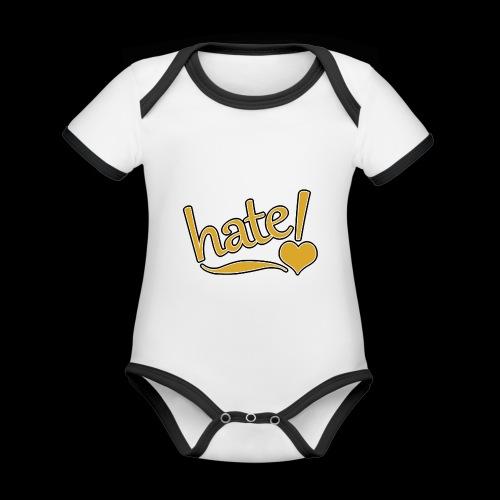 hate ! - Body Bébé bio contrasté manches courtes