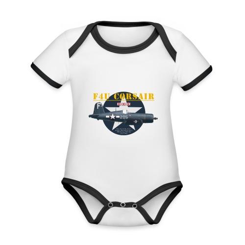 F4U Jeter VBF-83 - Organic Baby Contrasting Bodysuit
