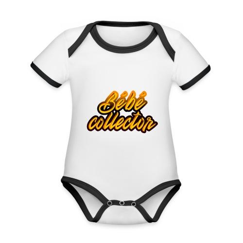 Bébé collector - Body Bébé bio contrasté manches courtes