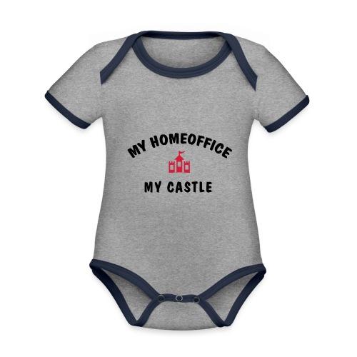 MY HOMEOFFICE MY CASTLE - Baby Bio-Kurzarm-Kontrastbody
