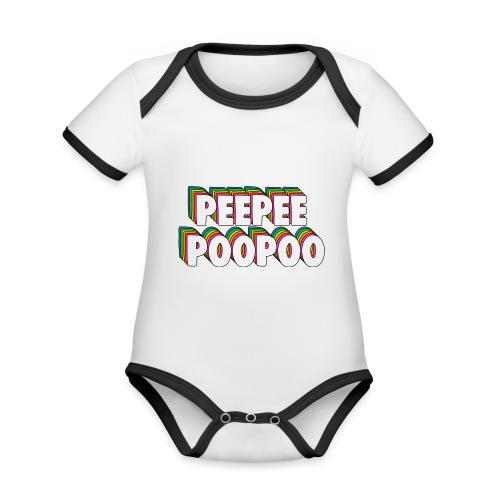 PEEPEEPOOPOO Meme - Organic Baby Contrasting Bodysuit