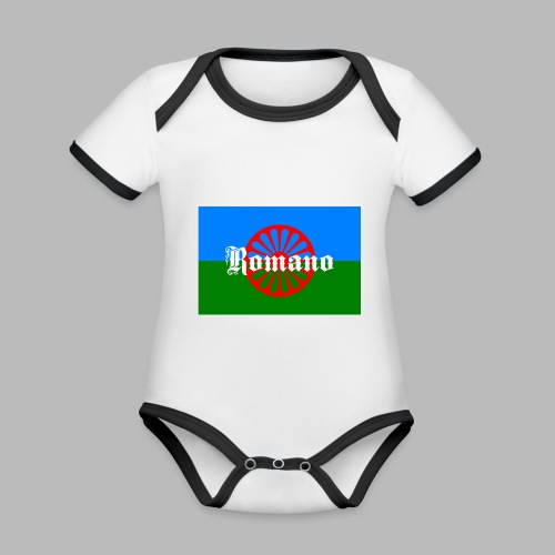 Flag of the Romanilenny people svg - Ekologisk kontrastfärgad kortärmad babybody