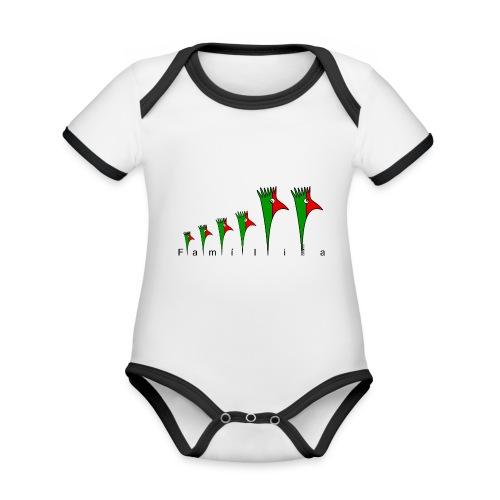 Galoloco - Família - Baby Bio-Kurzarm-Kontrastbody