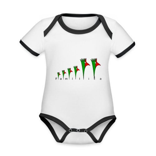Galoloco - « Família » - Body Bébé bio contrasté manches courtes