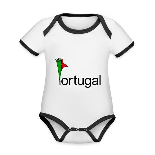 Galoloco - Portugal - Body Bébé bio contrasté manches courtes