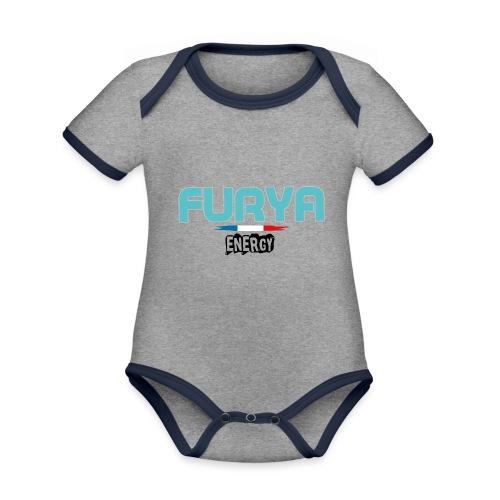 Furya 2021 Black - Body Bébé bio contrasté manches courtes