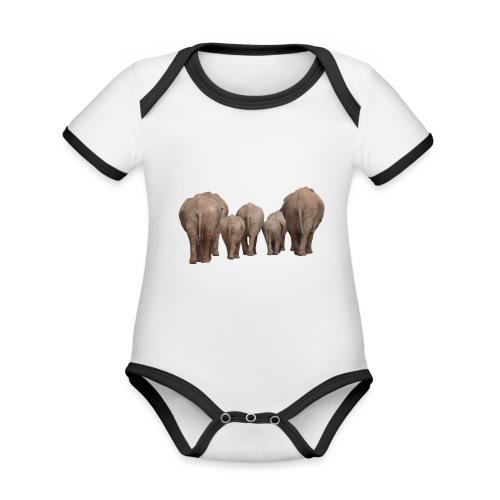 elephant 1049840 - Body da neonato a manica corta, ecologico e in contrasto cromatico