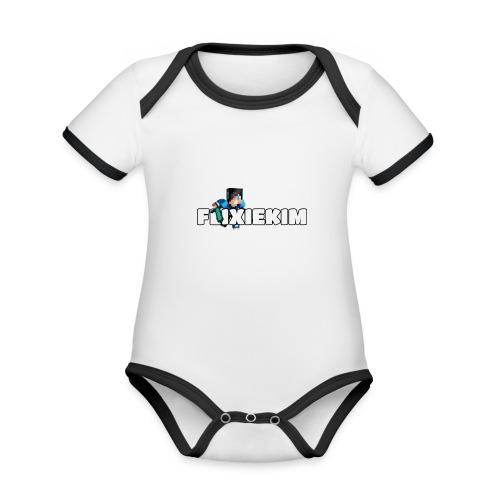 Flixiekim - Ekologisk kontrastfärgad kortärmad babybody