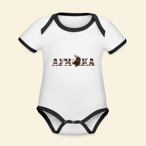 afrika - Body Bébé bio contrasté manches courtes