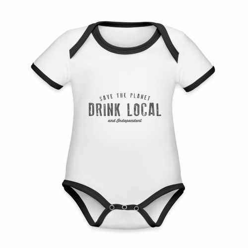 Drink Local - Organic Baby Contrasting Bodysuit