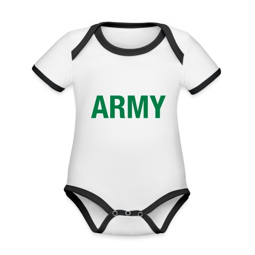 ARMY - Organic Baby Contrasting Bodysuit