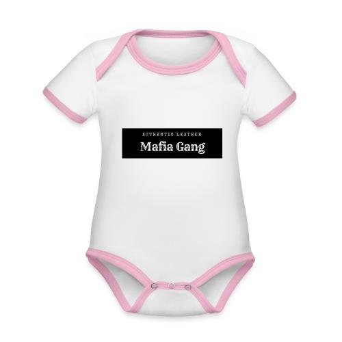 Mafia Gang - Nouvelle marque de vêtements - Body Bébé bio contrasté manches courtes