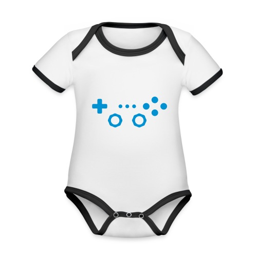 Classic Gaming Controller - Organic Baby Contrasting Bodysuit