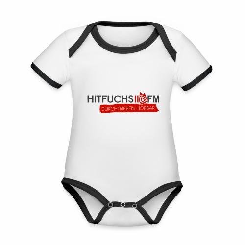 HitFuchs logo + slogan - Organic Baby Contrasting Bodysuit