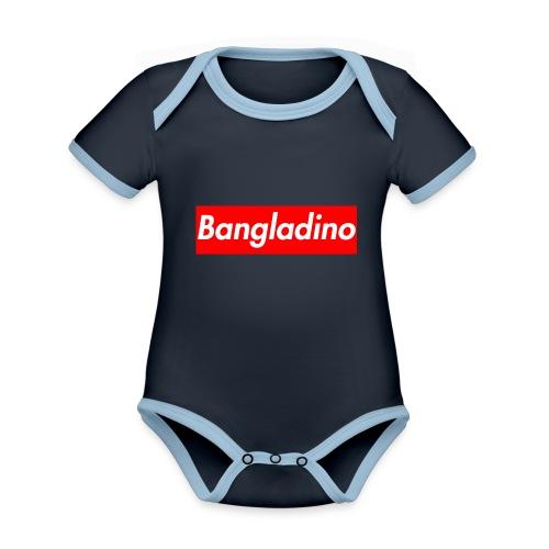 Bangladino - Body da neonato a manica corta, ecologico e in contrasto cromatico