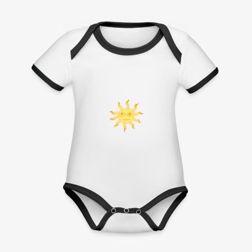 soleil - Body Bébé bio contrasté manches courtes
