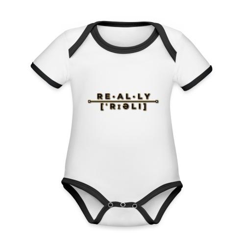 really slogan - Baby Bio-Kurzarm-Kontrastbody