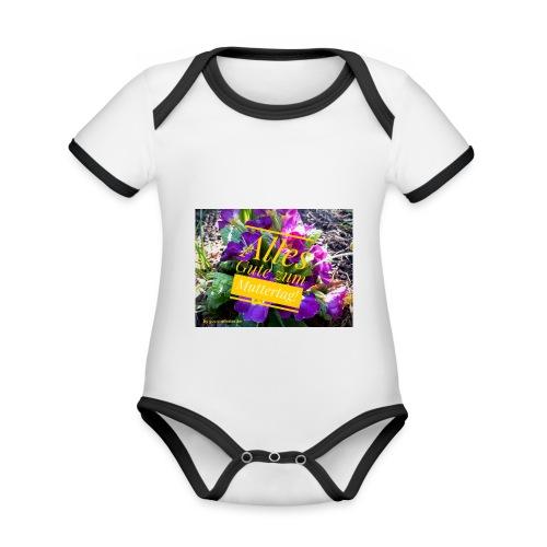Mutter Tag - Baby Bio-Kurzarm-Kontrastbody