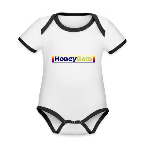 present by HoneyRam - Baby Bio-Kurzarm-Kontrastbody