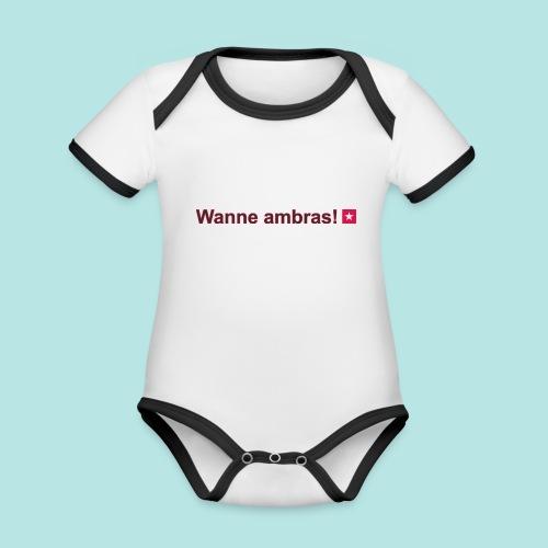 Wanne ambras mr def b hori def - Baby contrasterend bio-rompertje met korte mouwen