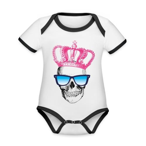 COOL SKULL - Baby Bio-Kurzarm-Kontrastbody