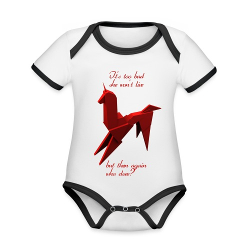 UnicornioBR2 - Body contraste para bebé de tejido orgánico