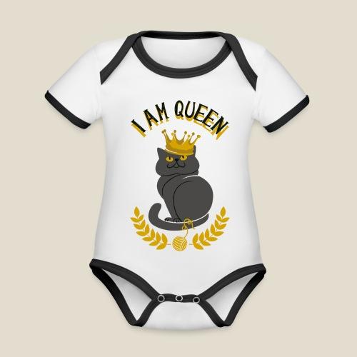 I am Queen - Body Bébé bio contrasté manches courtes